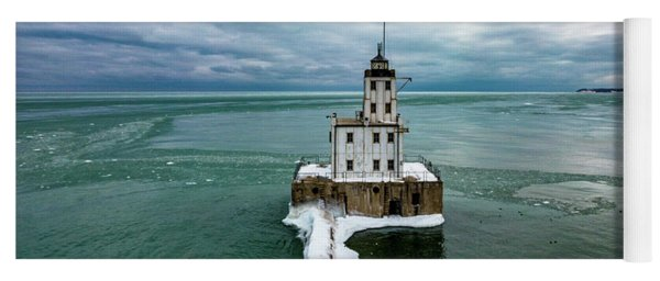 Breakwater Lighthouse Yoga Mat
