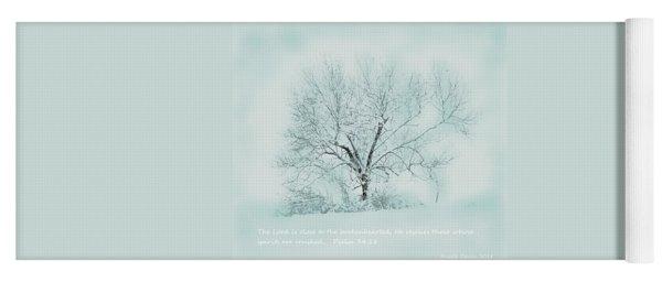 Breath Of Winter Yoga Mat