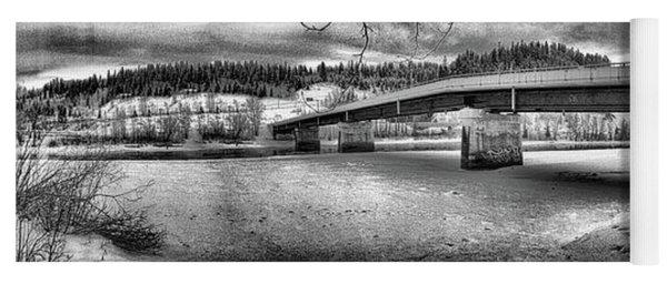 Bridge Over Frozen Waters Yoga Mat