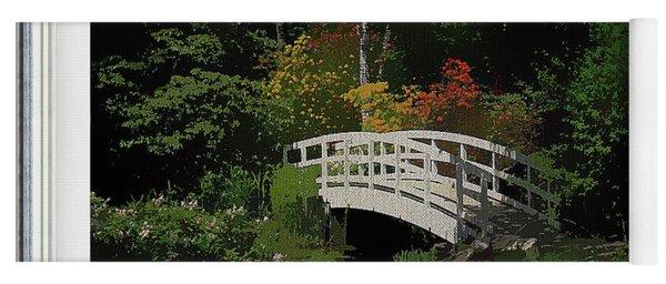 Bridge To The Azalea Gardens Yoga Mat