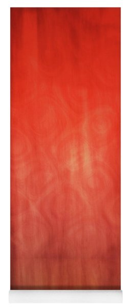 Bright Abstract Artistic Lines, Abstract Orange And Yellow Painting  Yoga Mat
