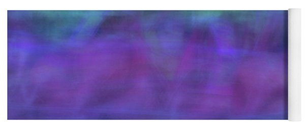 Bright Artistic Abstract Blurred Lines And Shapes Of Purples, Blues And Greens Textures Yoga Mat