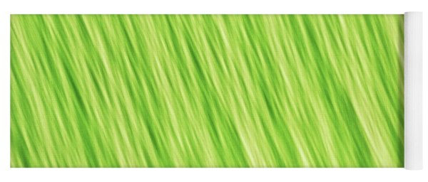Bright Chartreuse Green Blurred Diagonal Lines Abstract Yoga Mat