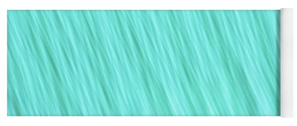 Bright Turquoise Blue Blurred Diagonal Lines Abstract  Yoga Mat