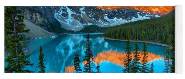 Brilliant Moraine Lake Sunrise Reflections 2019 Yoga Mat