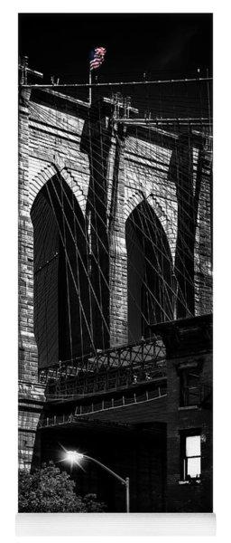 Brooklyn Bridge From Old Fulton Street Yoga Mat