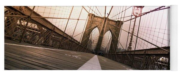 Brooklyn Bridge, New York City Yoga Mat