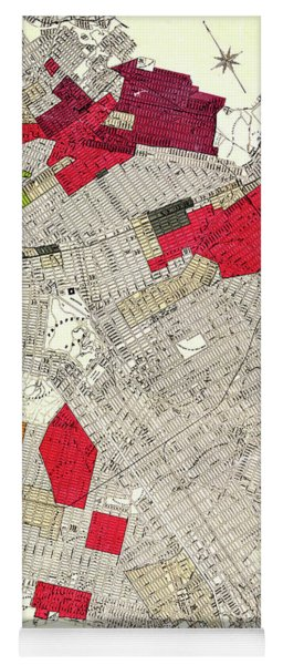 Brooklyn New York Racial Colonies Map 1920 Yoga Mat