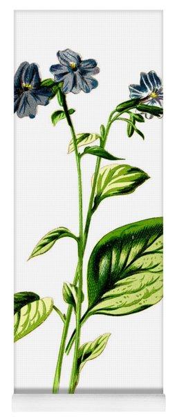 Browallia Flower Yoga Mat