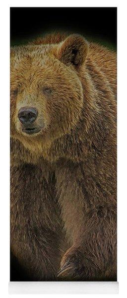 Brown Bear In Darkness Yoga Mat