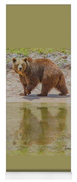 Brown Bear Reflection Yoga Mat