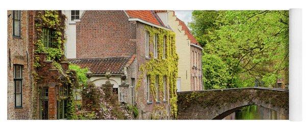 Bruges Footbridge Over Canal Yoga Mat