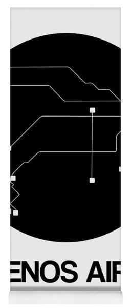 Buenos Aires Black Subway Map Yoga Mat