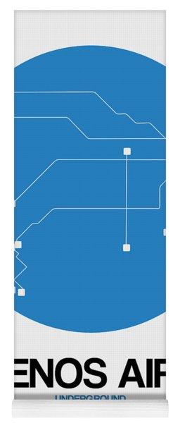 Buenos Aires Blue Subway Map Yoga Mat