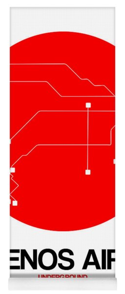 Buenos Aires Red Subway Map Yoga Mat