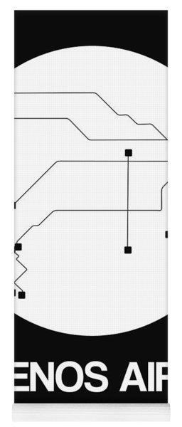 Buenos Aires White Subway Map Yoga Mat