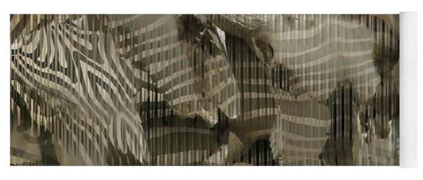 Buffalo Skulls Zebra Pattern 2 Yoga Mat