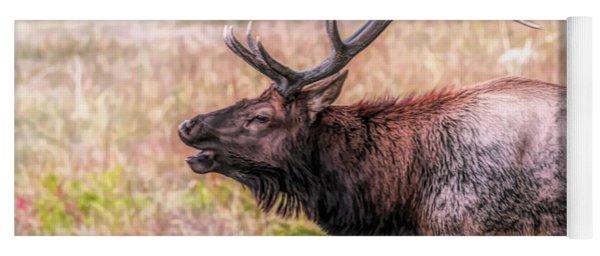 Bull Elk Bugle Yoga Mat