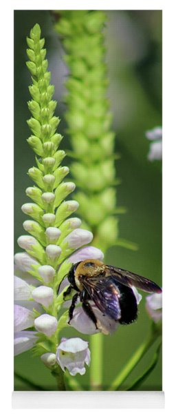 Bumblebee On Obedient Flower Yoga Mat