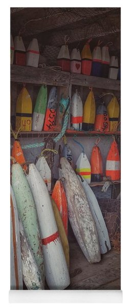 Buoys In A Sea Shack Yoga Mat