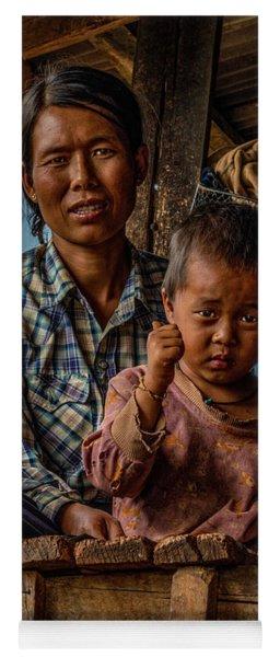 Burmese Mother And Child Yoga Mat