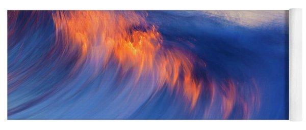 Burning Wave Yoga Mat