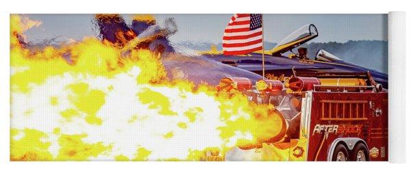 Burst Of Flames Jet Fire Truck Yoga Mat