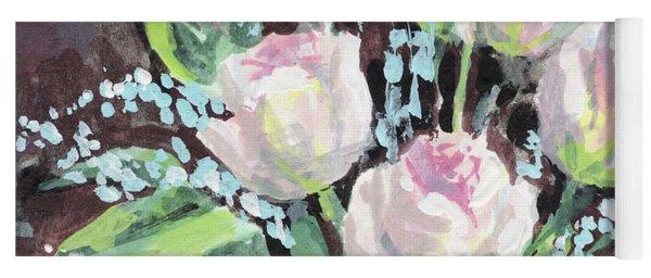 Burst Of Roses Flowers Bouquet Floral Impressionism  Yoga Mat