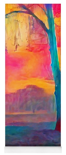 Yoga Mat featuring the painting Bush Sunset  by Chris Armytage