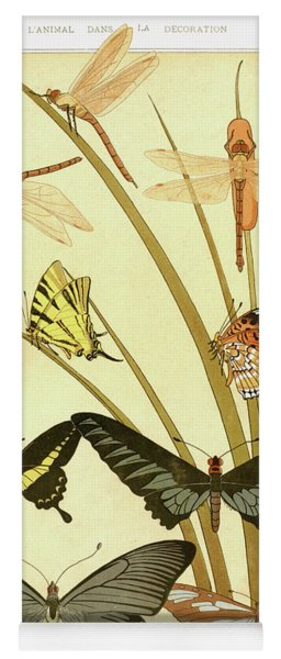 Butterflies By Maurice Pillard Verneuil Yoga Mat