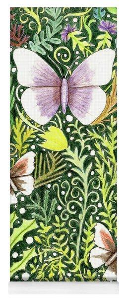 Butterflies In The Millefleurs Yoga Mat