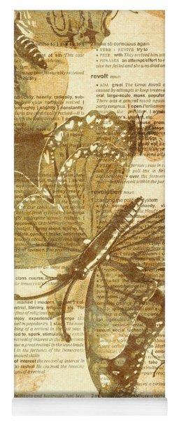 Butterfly Antiquities Yoga Mat