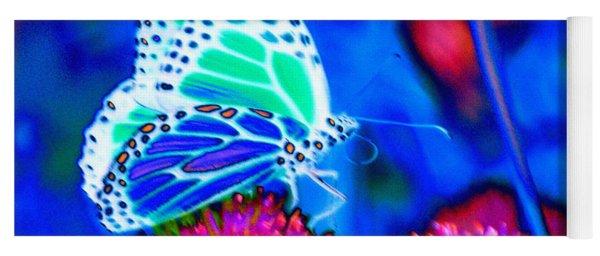 Butterfly Blue Yoga Mat