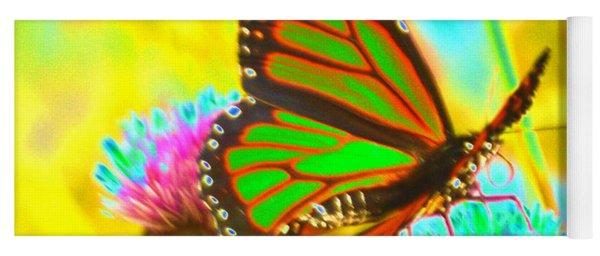 Butterfly Green  Yoga Mat