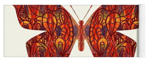 Butterfly Illustration Art - Complex Realities - Omaste Witkowski Yoga Mat