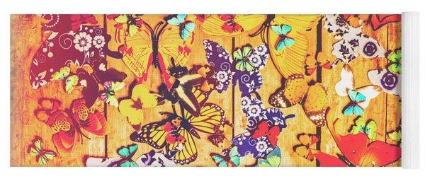 Butterfly Papercraft  Yoga Mat