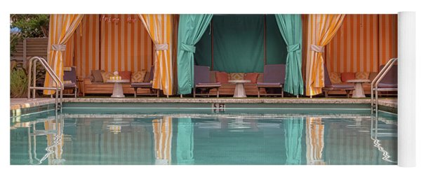 Yoga Mat featuring the photograph Cabanas by Alison Frank
