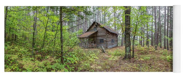 Cabin In The Forest Yoga Mat