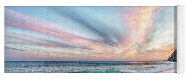 Cabo San Lucas Beach Wave Sunset Yoga Mat