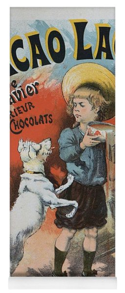 Cacao Lacte, 1893 French Vintage Poster Yoga Mat