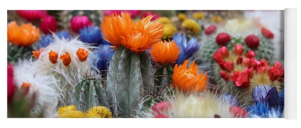 Cacti Flowers Yoga Mat