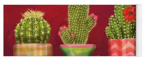 Cactus Friends I Yoga Mat