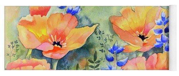 California Poppies Dreaming Yoga Mat