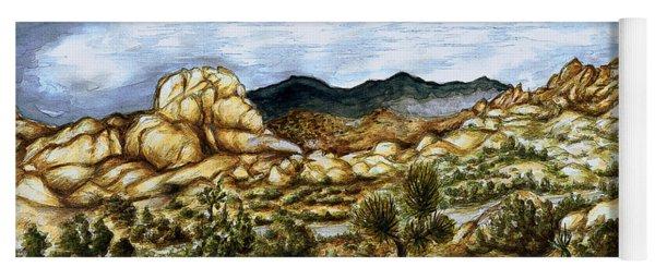 California Desert Landscape - Watercolor Art Painting Yoga Mat