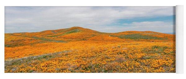 California Poppy Superbloom 2019 - Panorama Yoga Mat