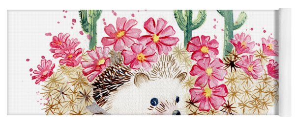 Camouflage - Hedgehog And Cactus Yoga Mat