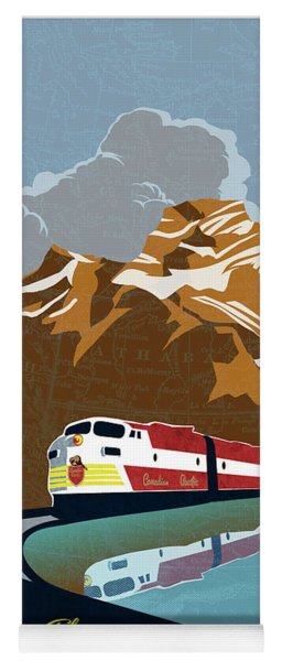 Canadian Pacific Rail Vintage Travel Poster Yoga Mat