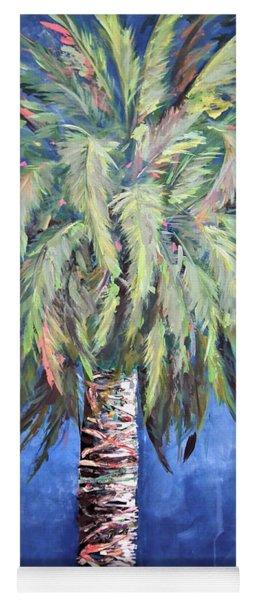 Canary Island Palm- Warm Blue I Yoga Mat