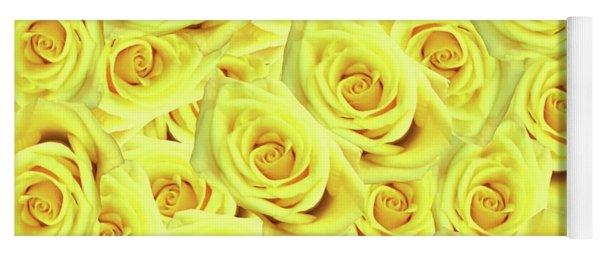 Candlelight Roses Yoga Mat