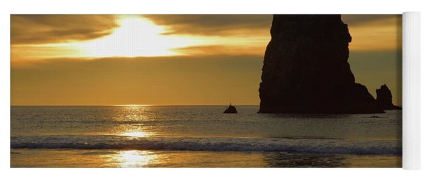 Cannon Beach November Evening Yoga Mat